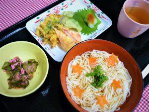 七夕天ぷら素麺